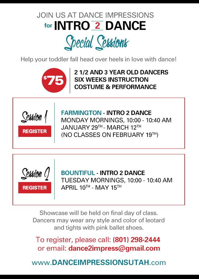 Intro 2 Dance - Special Sessions